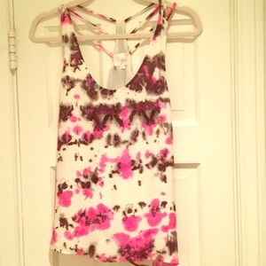 Parker pink and black sleeveless top